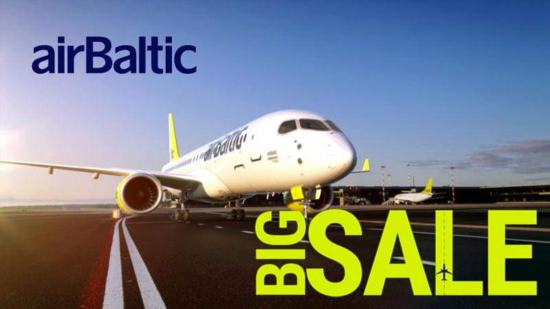 Распродажа авиабилетов авиакомпании airBaltic